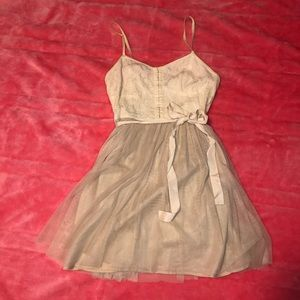 American Eagle Cream and taupe dress